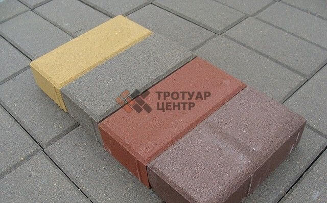 Тротуарная плитка брусчатка 200х100х60